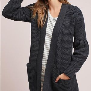 GUC Knitted and Knotted Balloon Sleeve Cardigan